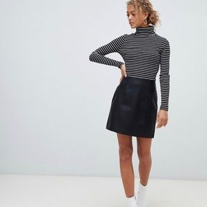 New Look French Stripe Ribbed Turtleneck